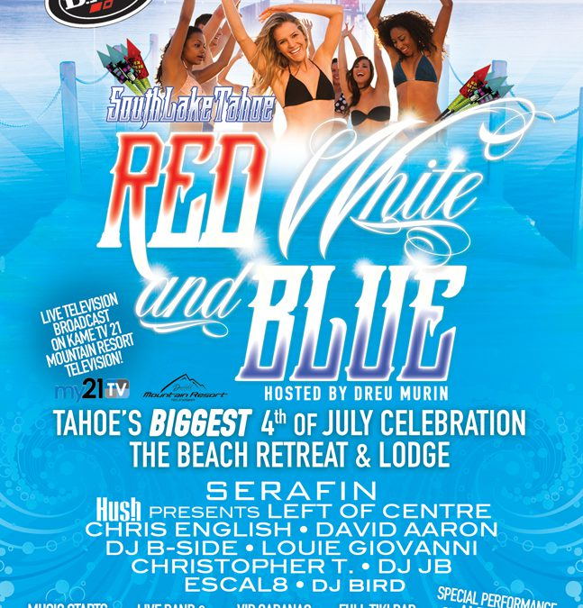 South Lake Tahoe Red White and Blue 07/04/16
