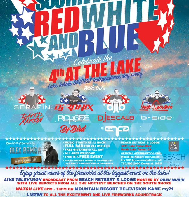 4th of July – South Tahoe Red White and Blue
